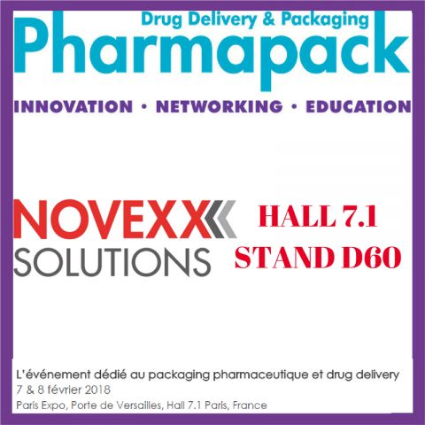 NOVEXX SOLUTIONS AU SALON PHARMAPACK 2018