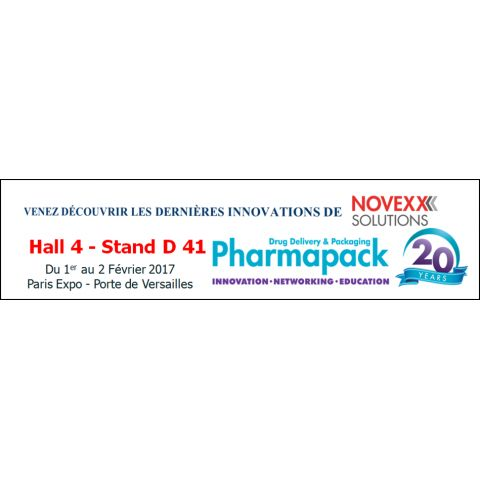NOVEXX SOLUTIONS AU SALON PHARMAPACK 2017