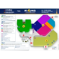 Plan du Salon de l'emballage All4pack 2016